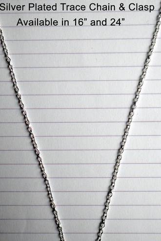 16' Silver Plated Trace Chain with Clasp
