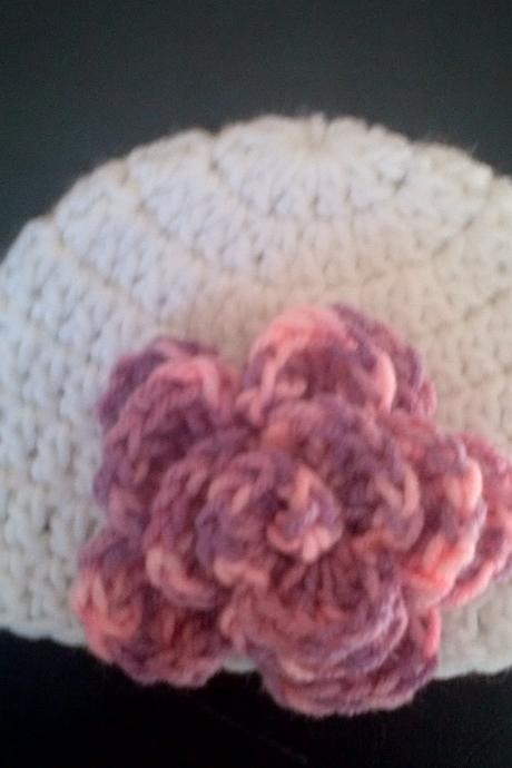 infant flower hat