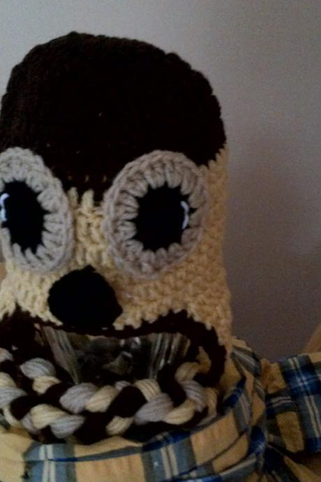 crocheted otter hat