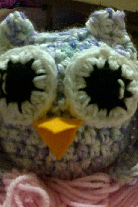little owl crocheted