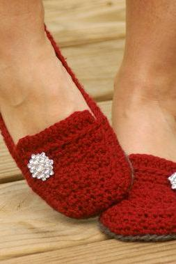Crochet Pattern for a Womens House Slipper - Lovely Lady Loafers - six sizes included - Women's 5-10 - Pattern number 117