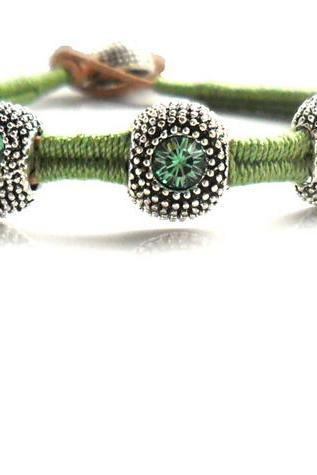 Handwoven Friendship Bracelet Leather Wrap Bracelet Bangle Bracelet Crystal bracelet