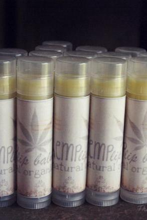 3 all natural lip balms made with hemp seed oil