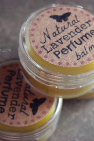 all natural lavender perfume balm