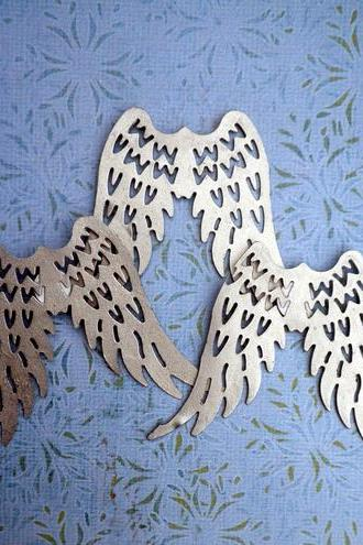 6x Metal Angel Wings