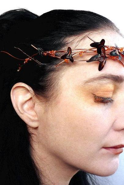 Copper ivy crown