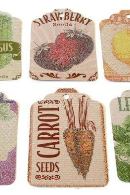 Harvest theme handmade gift tags embellishment Set of 12