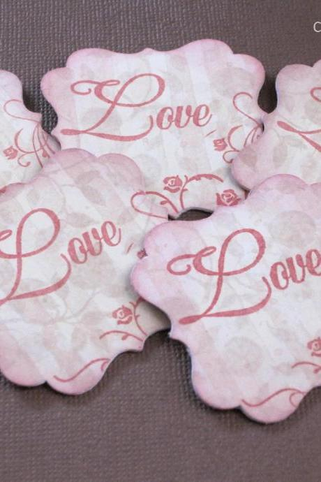 5 Love Wish Tag / Note Card / Embellishment