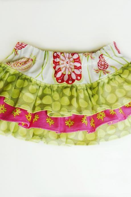 $8.50 Shapla Ruffle Skirt PDF Pattern sizes 0-3 months to 12 years!