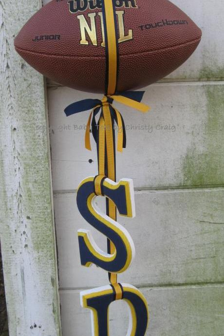 Football Love Wall or Door Hanging