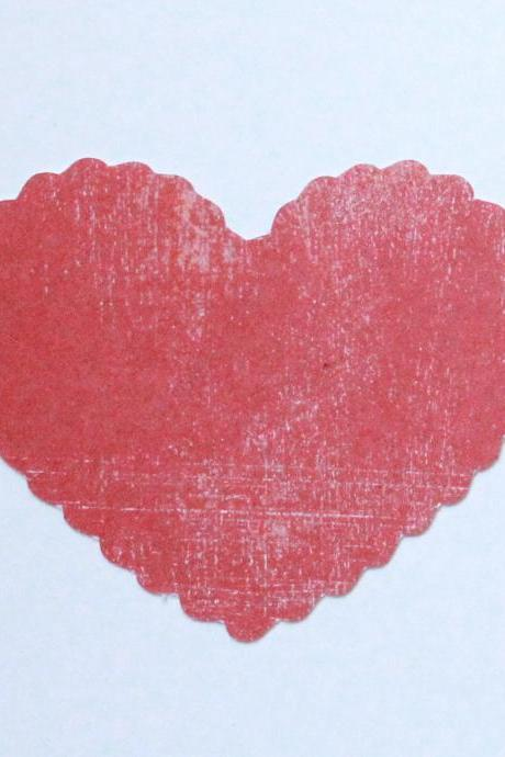 Wavy Edge Cut Out Hearts (set of 15).Tags.Labels.Place Cards.Escort Cards. FREE shipping