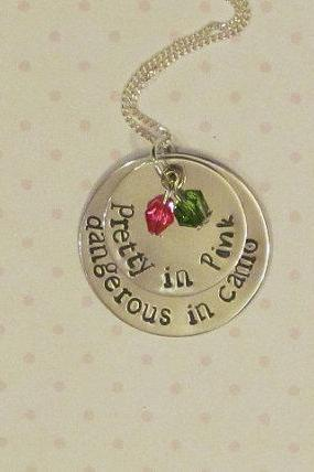 Country Girl Necklace - Pretty in Pink - Dangerous in Camo