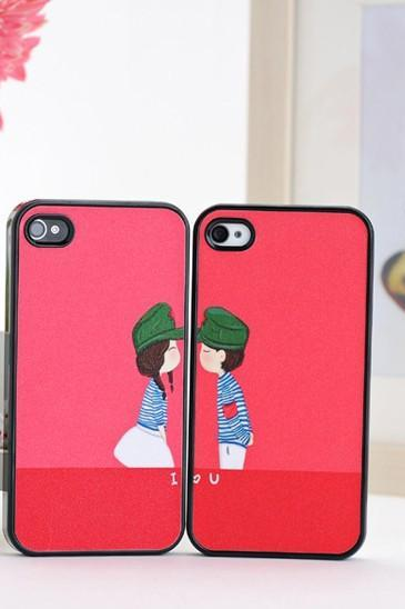 Valentines Day gift cute lover design cover hard back case for iphone 4 4S