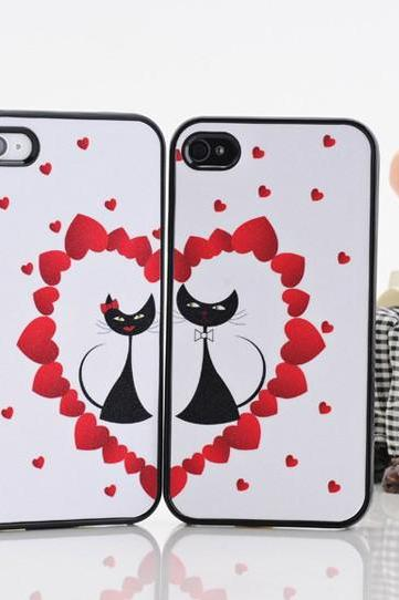 Gift for girlfriend or boyfriend Valentines' Day Lovely lover design back case cover for iphone 4 4S