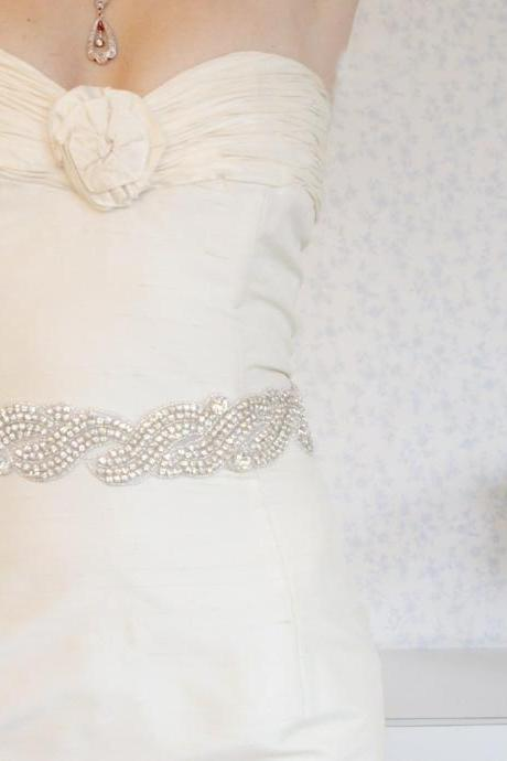 BOGO SALE - Wedding sash- 440 Crystals sash - beaded bridal sash