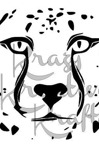 Leopards face vinyl wall decal
