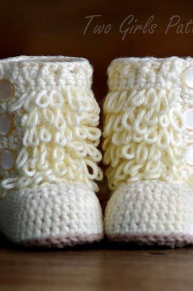 Baby Crochet Boots Pattern - Furrylicious Booties - Pattern number 200