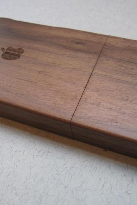 Iphone 5 case - wooden cases bamboo, cherry and walnut wood - Apple logo