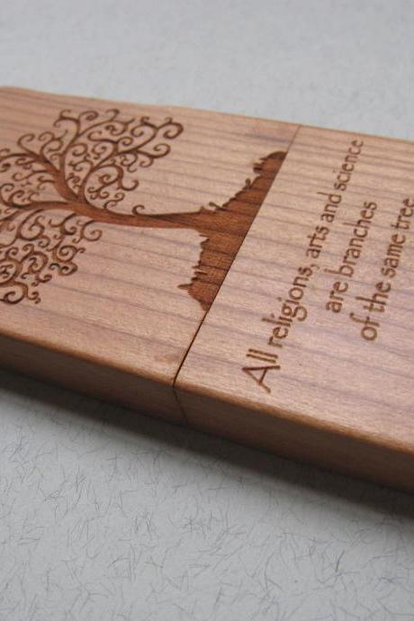 Iphone 5 case - wooden cases bamboo, cherry and walnut wood - Tree - laser-engraved