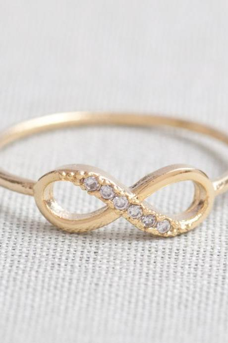 US 5-US 10 Size-delicate Infinity ring in Gold