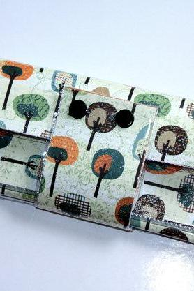 Long Wallet with Zipper - Fancy Forest