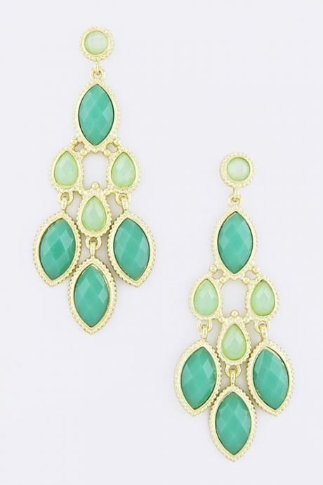 Sea Foam Chandelier Earrings