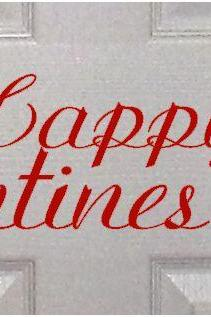 Happy Valentines Door Decal