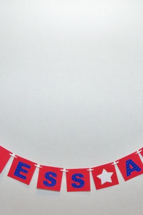 God Bless America banner/ garland/ bunting/ patriotic decor