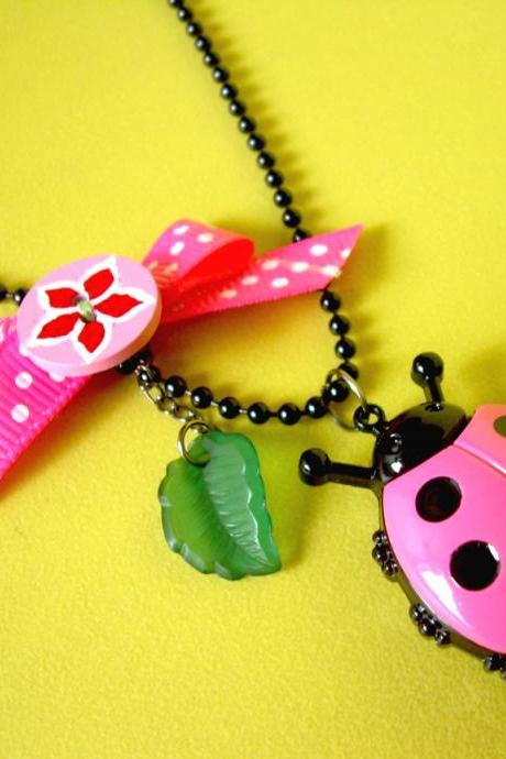 Petit Cutie Ladybug - ♥ Watch Locket With Necklace ♥
