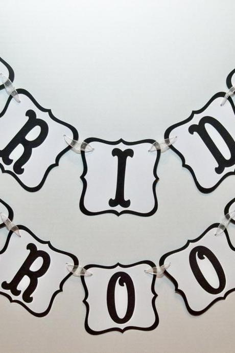 BRIDE GROOM Banners/ Wedding Garlands/ Wedding/ Can Custom Colors