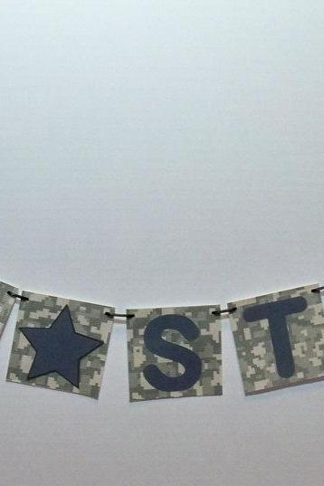 Army Strong banner/ Army garland/pennant/deployment photo prop/custom orders welcomed