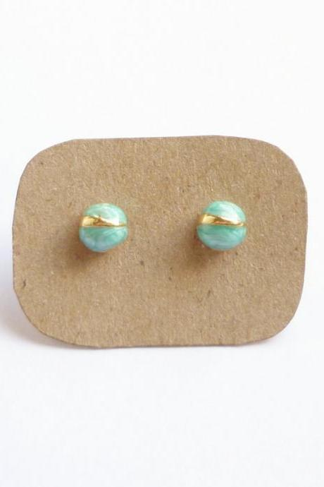 SALE - Blue Bug Stud Earrings - Gift under 10