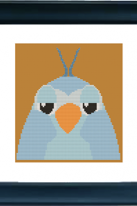 Blue Bird Cross Stitch Pattern