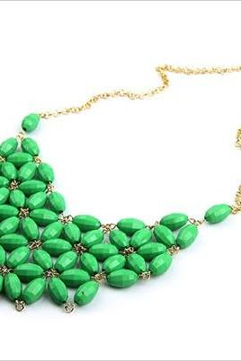 New Women Alloy Resin Bubble Fashion Bib Necklace (not process order until 22nd Fed 2013)