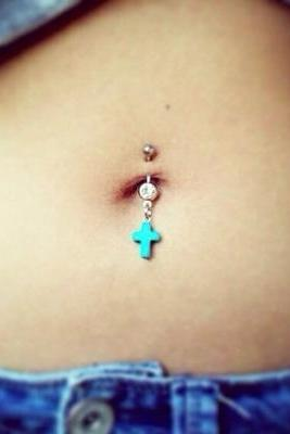 Turquoise Cross Belly Ring Country Country Belly Rings Crosses Western