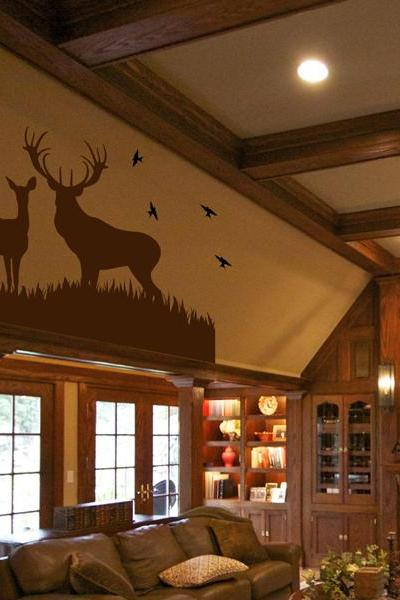 Deer Vinyl Wall Decal Vinyl Room Decor.