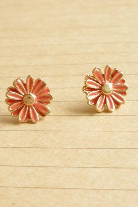 Reserve listing Please Do not buy - Lovely Pink Daisy Stud Earrings