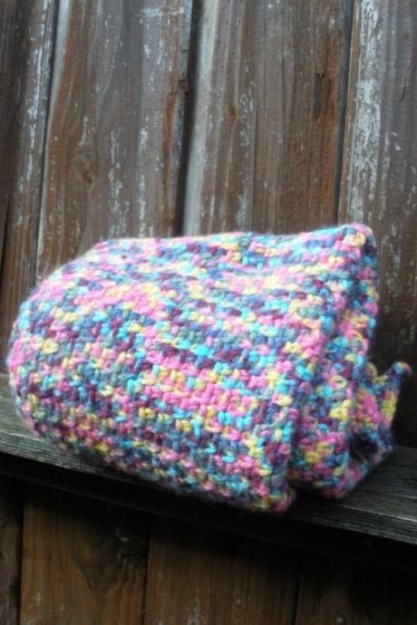 Girls Crochet Baby Afghan blanket, infant blanket in spring pastels, ready to ship.