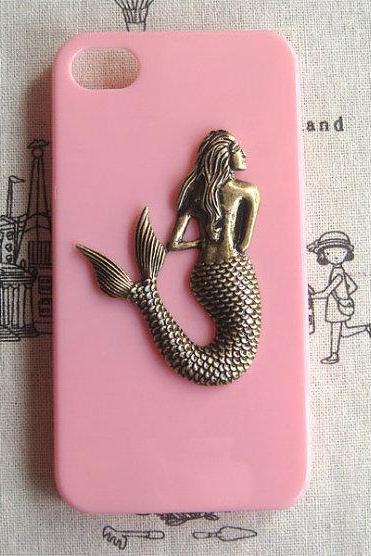 Steampunk Mermaid hard case For Apple iPhone 4 case iPhone 4s case cover