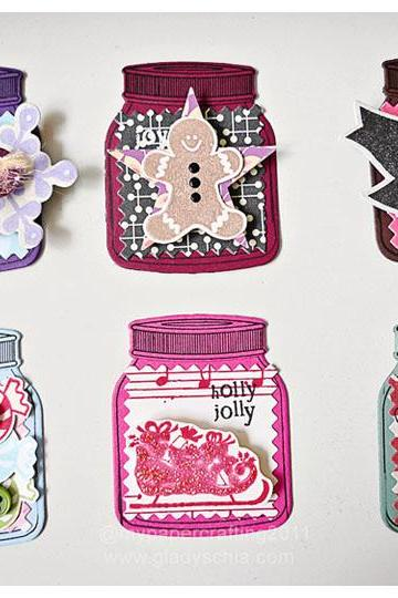 Mini Jar Holiday Tags