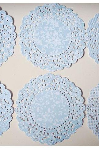 Parisian Lace Doily Spring Rain for Scrap booking or card making / pack