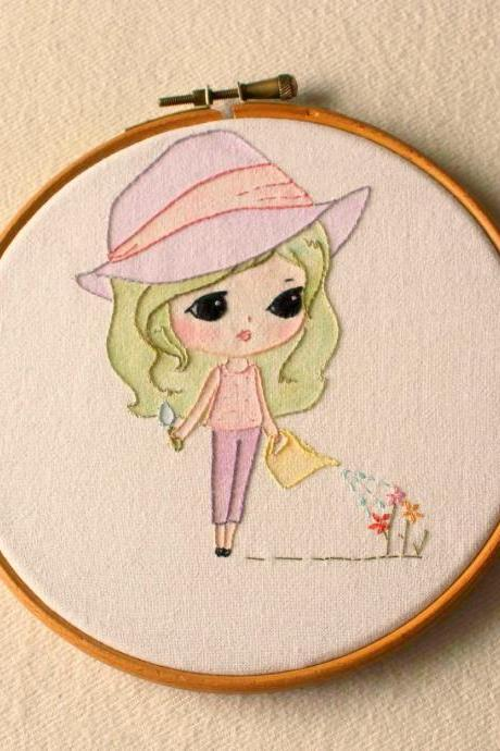 Embroidered Garden Girl pdf Pattern