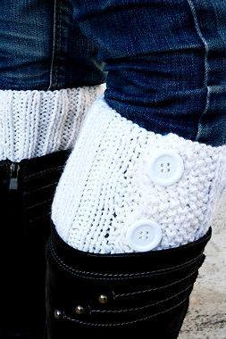 White Boot Toppers,White Boot Cuffs,Clasp White Button,Knit Boot Toppers, Knit Boot Cuffs, Accessories