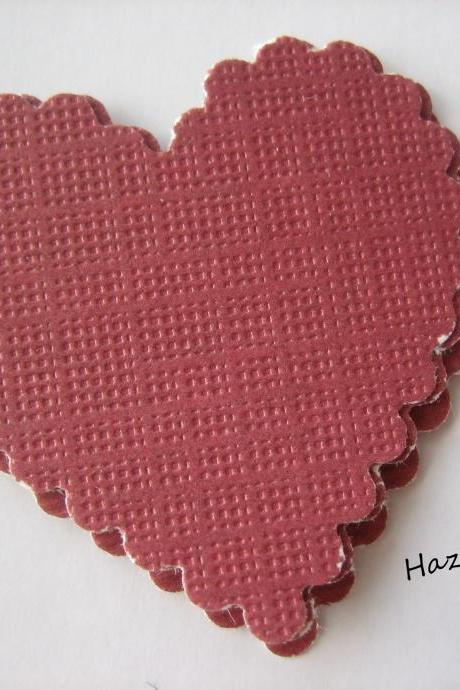 20PCS - Scrapbooking, Jewelry Design, Collage Rounds - 3cm - Crimson Hearts
