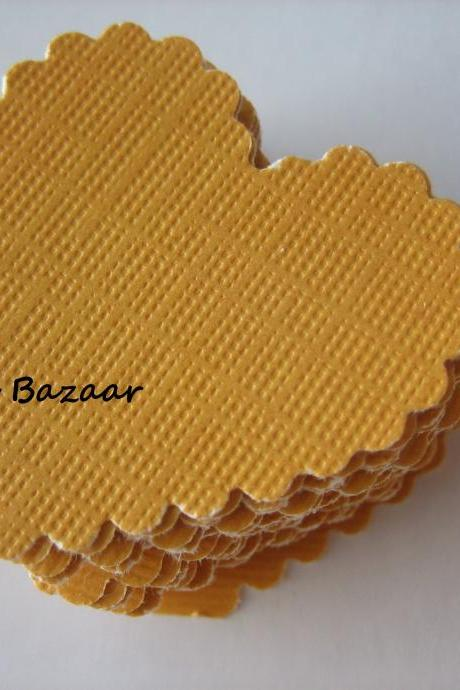 20PCS - Scrapbooking, Jewelry Design, Collage, Cardmaking and Crafting - 3cm - Hearts - Goldenrod