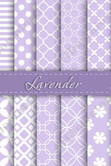 Lavender Digital Paper Pack Scrapbooking Paper Digital Scrapbook Paper Digital Downloads