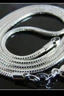 .925 Sterling Silver, 20 Inch Snake Chain!