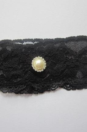 Simply Chic Bridal Garter - New Black Lace - Single Garter - Special Offer for Limited Time ONLY 20% Off