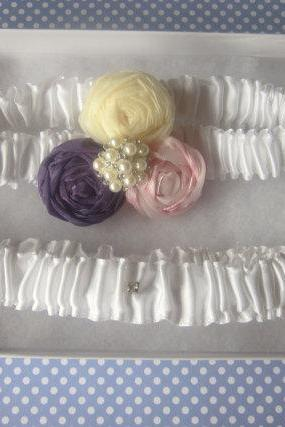 Garter Set (including toss garter) - EmilyMay Garter Set - Special Offer for Limited Time ONLY 15% Off