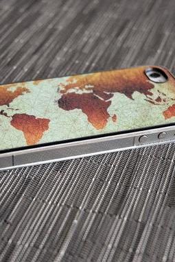 Classic World Map Custom iPhone Case